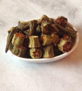 paleo crispy baked okra